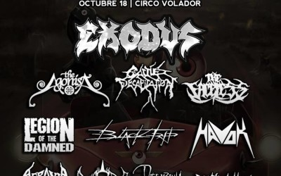 BLACK TRIP at the EYESCREAM METAL FEST in MEXICO CITY with EXODUS